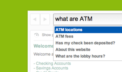Virtual Assistant helps with opening new accounts in online banking