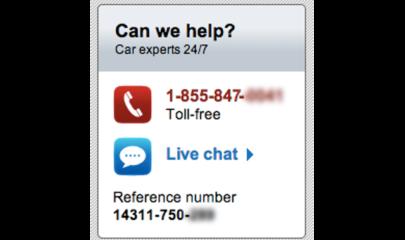 Umieść Live Chat'a obok infolinii i formularza