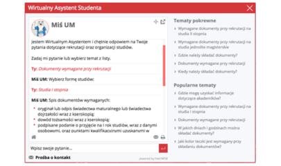 Wirtualny Asystent Studenta