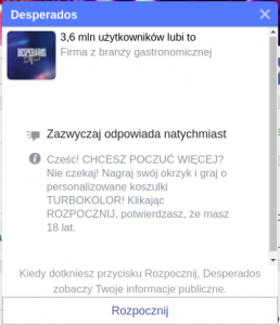 Chatbot w messenger Desperados