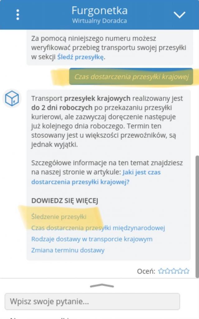 Wirtualny Doradca Furgonetka.pl, wdrożenie InteliWISE