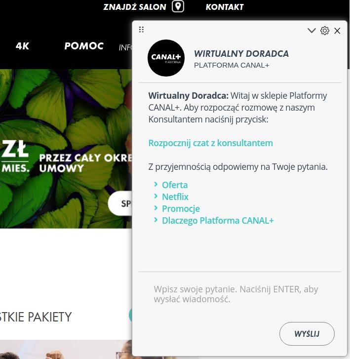 wirtualny doradca od inteliwise na platformie canal+